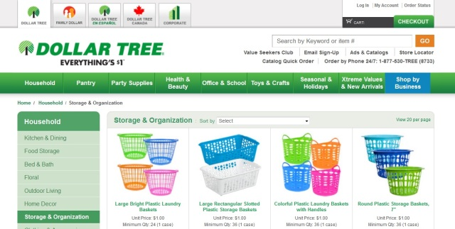 dollar tree storage mass list