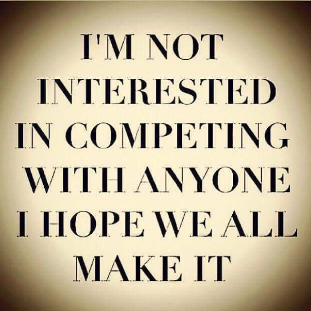 I'm not interested in competing